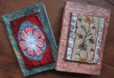 Leather vintage lace applique beaded journals.jpg