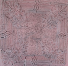Fabric from vintage tin tile.JPG